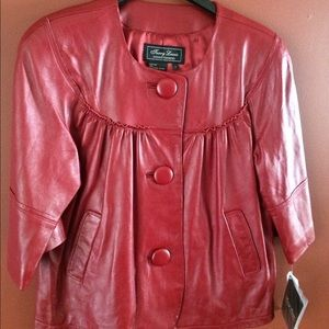 Terry Lewis Classic Luxury Jackets & Blazers - Terry Lewis Classic Luxuries Red Leather jacket.