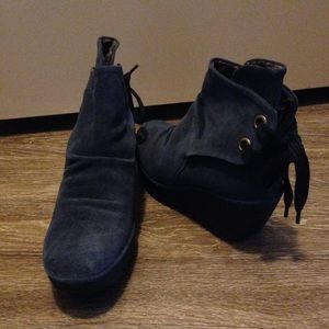 Fly London Shoes - Fly london Yama blue suede ankle boots 39=8.5