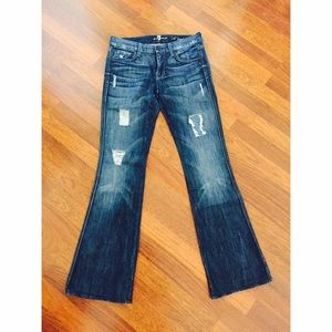 7 For all mankind mini flare jeans
