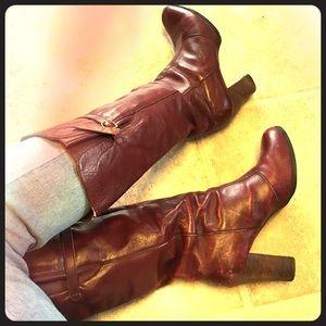 Rich wine vintage boots