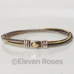 David Yurman Jewelry - David Yurman Sterling & 18k Crossover Bracelet