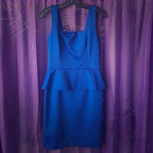 ECI Dresses & Skirts - Royal Blue Peplum Dress