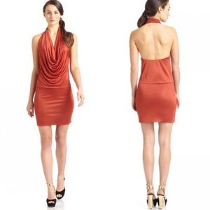 Black Halo Dresses & Skirts - Black Halo Selena rust orange halter mini dress
