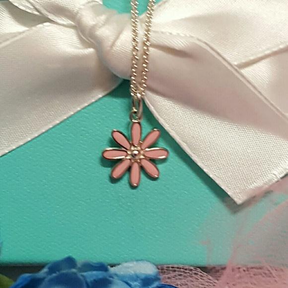 0719b76a2 Tiffany & Co. Jewelry   Tiffany Co Pink Daisy Flower Necklace   Poshmark