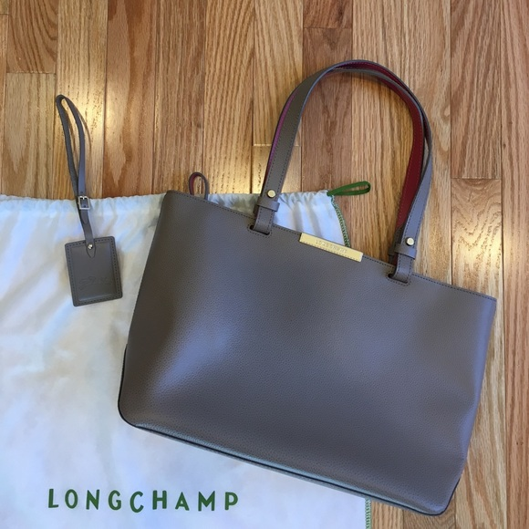 e0424491a289 Longchamp Handbags - Longchamp Le Foulonne Small City Tote in Galet