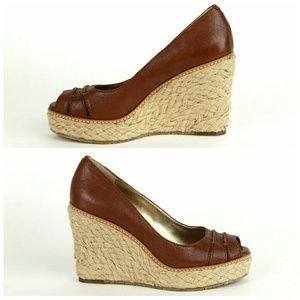 fc2f9f482ff Banana Republic Dylan espadrille wedge peep toes