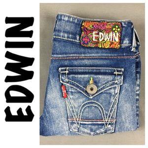 Edwin Denim - ☮️Miss Edwin DESIGNER FADE skinny size 29