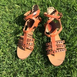 RED Valentino Shoes - Valentino RED strappy tan sandals 36 EUC
