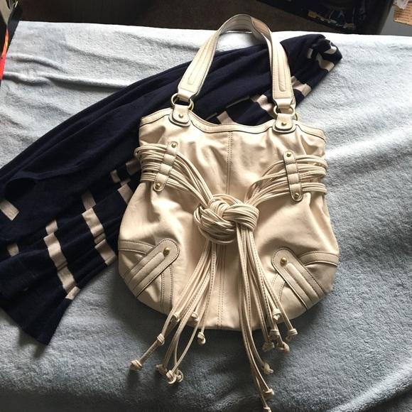 11e14e103578 burlington coat factory Handbags - Large white faux leather bag with unique  details.