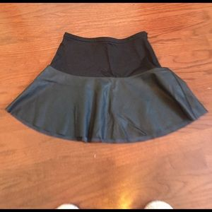 EXPRESS Half Leather Skater Skirt