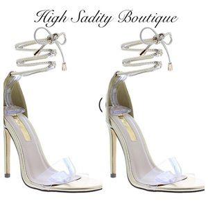 Alala Shoes - Gold strap heels