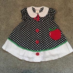 Bonnie Baby Other - Polka dot Apple dress