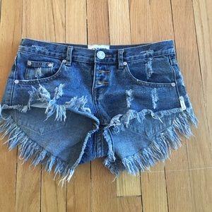 One Teaspoon Bonita denim shorts 25