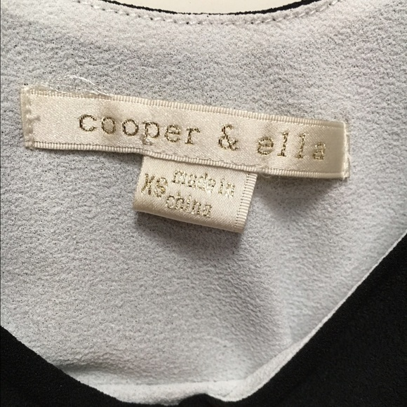 Cooper & Ella Tops - Cooper & Ella black & white illusion layered top