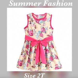 Other - Little Girls Floral Spring / Summer Dress