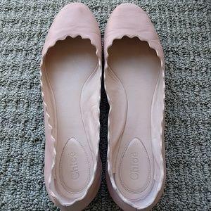 Chloe Shoes - Chloe Lauren Scalloped Flats 41
