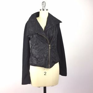 Nikibiki Jackets & Blazers - Nikibiki Black Cloth Moto Jacket M
