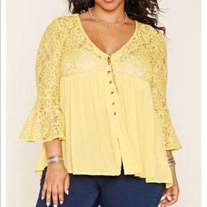 Forever 21 Plus size bell sleeve top