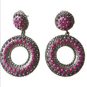 no name Jewelry - Women's Round Dangling Earrings.