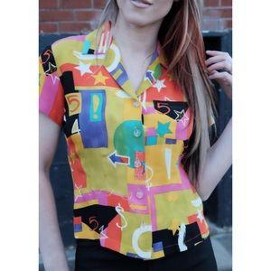 Vintage 90s short sleeve blouse
