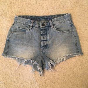 Blank NYC Pants - Blank NYC // High Waisted Frayed Shorts