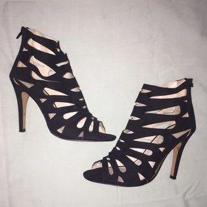 Aldo Shoes - Black Heels Suede Cut Outs ✨