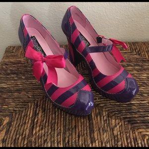 Funtasma Shoes - Candy 🍭 platform high striped heels Chester Cat