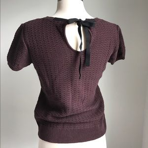 Sweaters - Anthropologie FRENCHI short sleeved cotton sweater