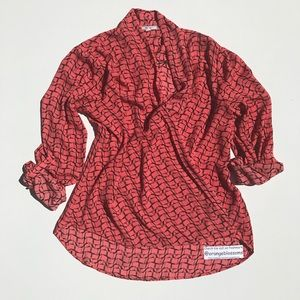 Pleione Tops - PLEIONE  CAREER BLOUSE TOP SHIRT SIZE LARGE