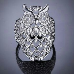 Jewelry - NWT Sterling Silver Filigree Owl Ring