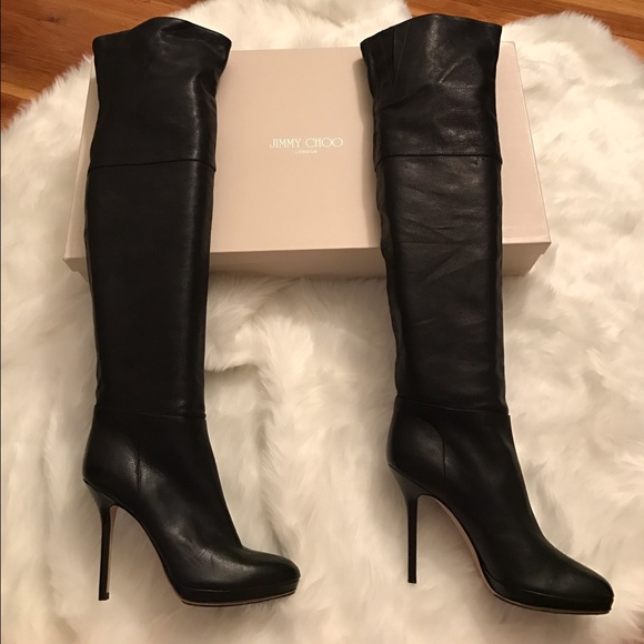 Jimmy Choo 247 April Over-The-Knee Boots