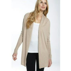 BCBGMAXAZRIA open front shirred back cardigan