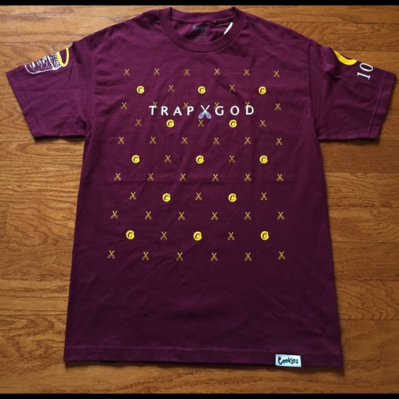 a134fdf6ea7 cookies Other - GUCCI MANE X COOKIES TRAP GOD COLLAB TEE BURGUNDY