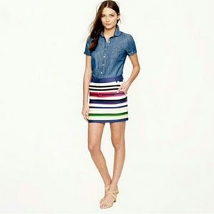 J. Crew stripe skirt