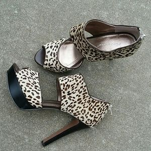 Shoes - BCBG /eneration/ leather upper/calf- hair / heels.
