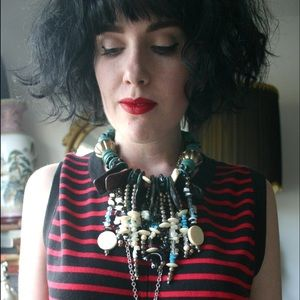 Jewelry - Vintage chunky bead statement necklace