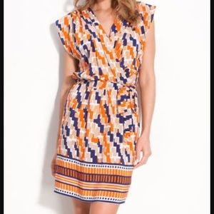 Presley Skye Dresses & Skirts - Orange and Blue Silk Dress