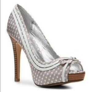 Not Rated Shoes - Not Rated Polka Dot Peep-toe Heels Size 6