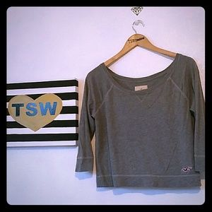 Hollister Tops - HOLLISTER small gray 1/4 sleeve