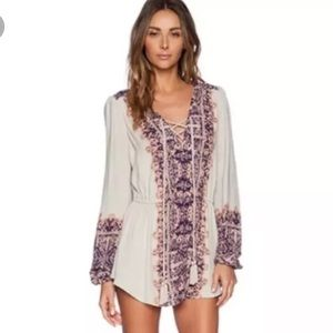 Free People Tops - Free People Lace Up Tunic Top