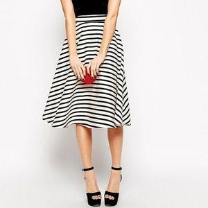ASOS Striped Midi Skirt