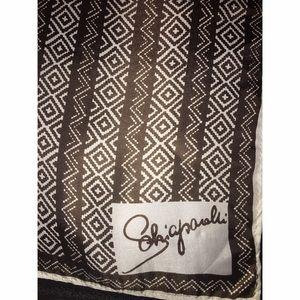 Accessories - Vintage Schiaparelli Brown Pattern Scarf Square
