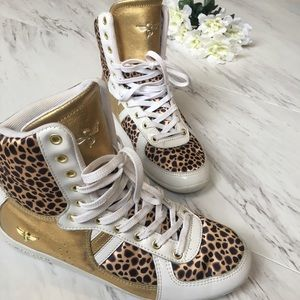 Creative Recreation Shoes - Creative Recreation High Top Leopard Gym Shoes