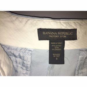 Banana Republic Factory Store Shorts - Banana Republic Factory Store Sky Blue Shorts Sz 8