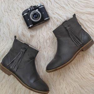 zara Other - Zara girls gray tassel booties