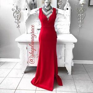 Emerald Sundae Dresses & Skirts - 💔HP💔Long Red Cutout Dress
