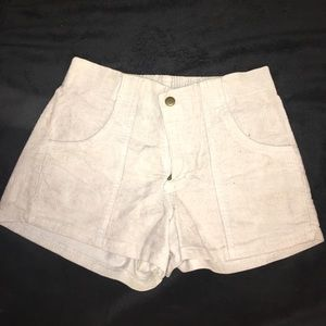 American Apparel corduroy high waisted shorts