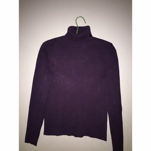 Ralph Lauren Eggplant Ribbed Turtleneck Sz L