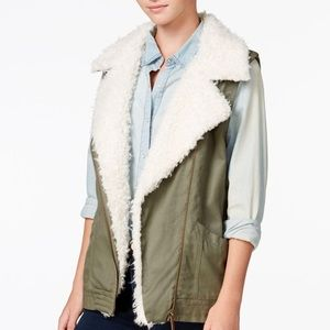 NWT Sanctuary green fur vest