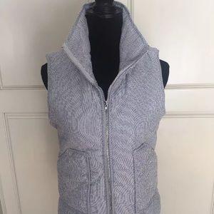 Peach Love California Jackets & Blazers - Peach Love California blue ticking quilted vest